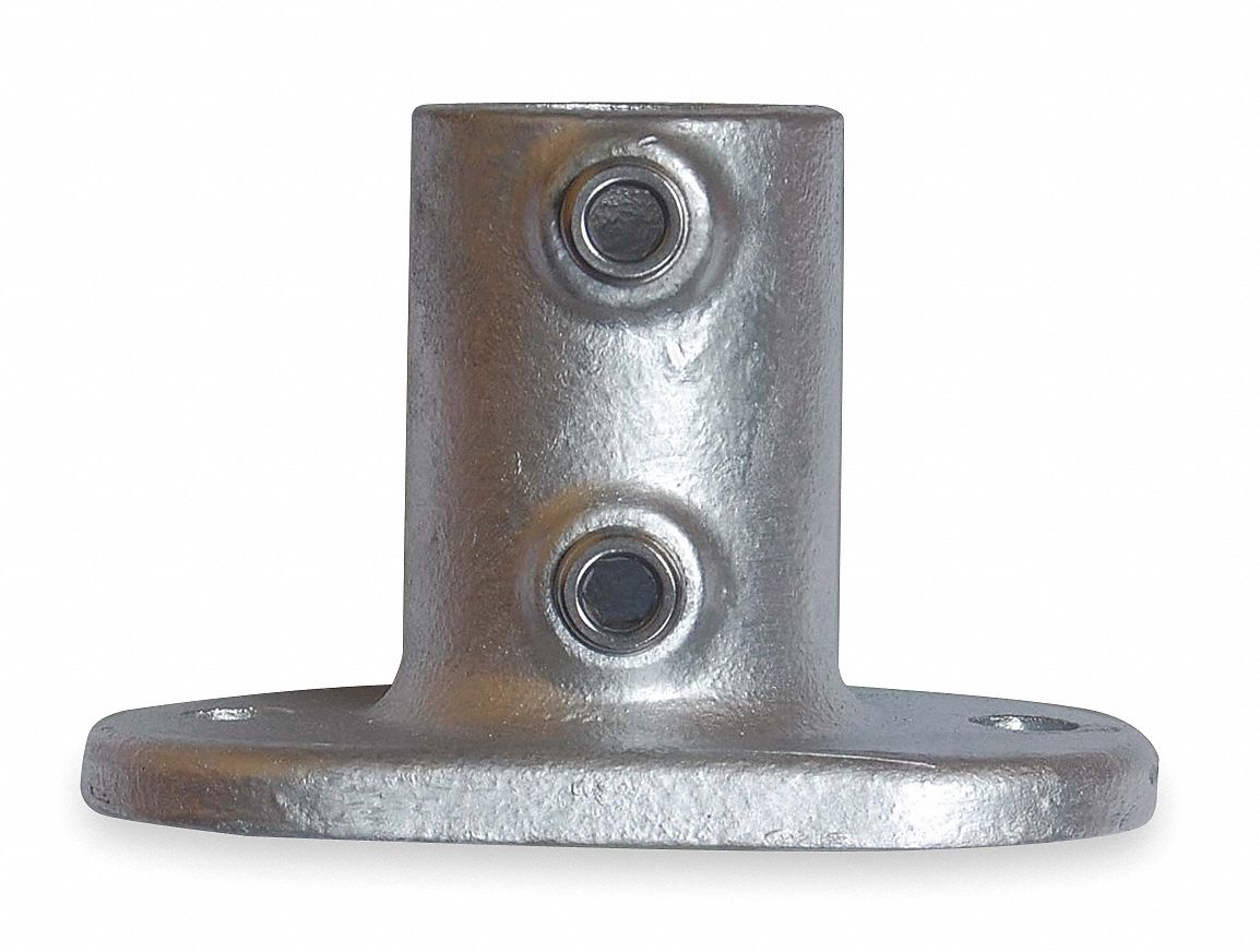 Structural Fencing Fittings : Grainger approved railing base flange cast iron structural