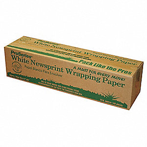 "Newsprint Grade Paper, 30 lb. Basis Weight, 24"" Length, 18"" Width, White Color"