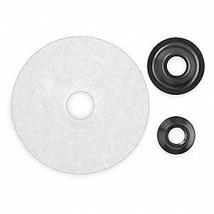 Disc Backup Pad,4-1/2D,Arbor Hole
