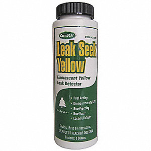 Leak Detector,8 oz.,Fluorescent Yellow
