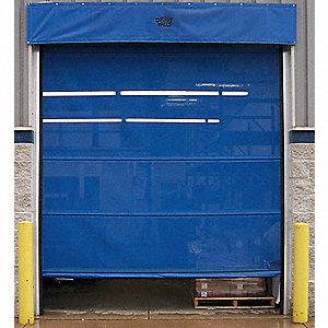 Goffs mesh door motorized 12 ft h x 10 ft w 4pha4 for 12 foot roll up door