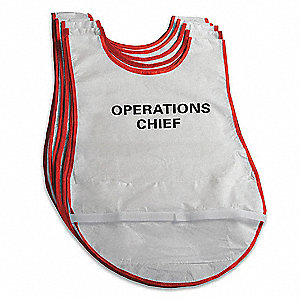 Hospital Incident Command Vests,28 In. L