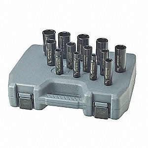 Impact Socket Set,1/2 In Dr,13 pc