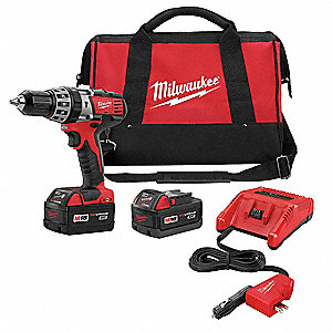 "1/2"" Cordless Hammer Drill/Driver Kit, Voltage 18.0 Li-Ion, Battery Included"