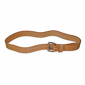 Work Belt,HD,Leather,36 to 46In,1 Pocket