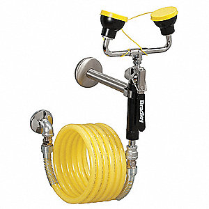 Dual Head Drench Hose,Wall Mount,12 ft.