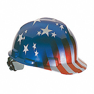 Hard Hat,FrtBm,Slttd,USFlagStars/Stripes