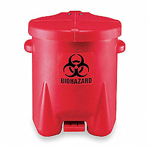 Biohazard Step On Waste Container,6 gal.
