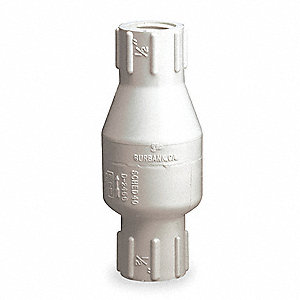 "1"" Spring Check Valve, PVC, FIPT Connection Type"