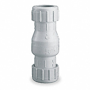 "1-1/2"" Swing Check Valve, PVC, Compression Connection Type"
