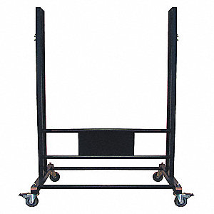 Stand, Black Powder Coated Stainless Steel, Includes Casters,For Use With Mfr. No. 4RNN4, Casters