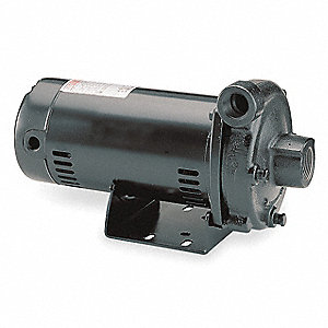 1 HP Straight Center Discharge Pump, 1 Phase, 115/230 Voltage, Cast Iron Housing Material