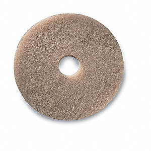 "13"" Tan Buffing and Polishing Pad, Package Quantity 5"