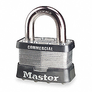 Padlock,KA,1 In H,4 Pin,Steel