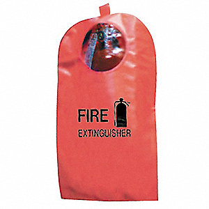 Fire Extinguisher Cover w/Window, Fits Tank Size 15 to 30 lb.