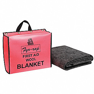 Fire Blanket and Pouch,Wool/Nylon Blend