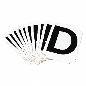 Letter Identification Card,D,PK10