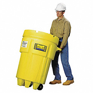 Spill Kit,Wheeled Can,61 gal.,Oil Only