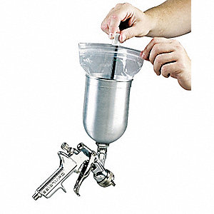 Spray Gun Cup Liner, 1 qt. Capacity, For Use With Gravity Feed Cups