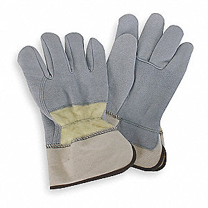 Uncoated, Cut Resistant Gloves, Kevlar® Lining, Gray/Yellow, L, PR 1