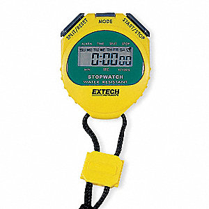 Stopwatch,Yellow,Water Resistant