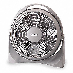 "Non-Oscillating, 15"" Portable Pivot Fan, 120V Voltage, 3 Number of Speeds"