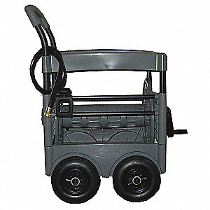 Portable Hose Cart,Resin/Steel,15 In.
