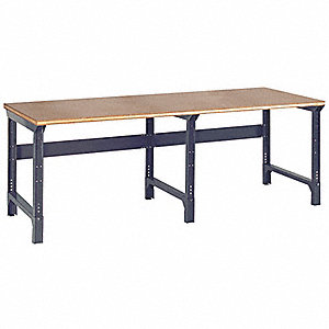 "Workbench, Steel Frame Material, 96"" Width, 36"" Depth  Shop Top Work Surface Material"