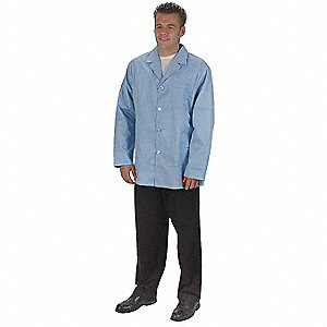 Collared Lab Jacket,Male,XL,Light Blue
