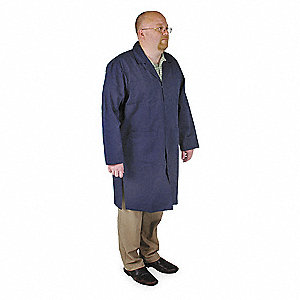 Collared Shop Coat,Male,XL,Navy