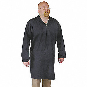 Collared Shop Coat,Male,L,Navy