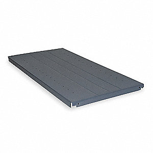 Gray Additional Shelf, 22 Gauge, Steel, Package Quantity 3