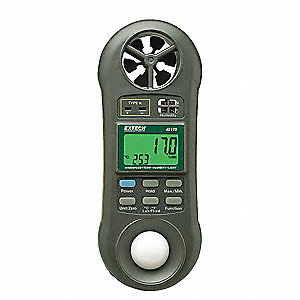 Anemometer with Humidity,80 to 5910 fpm