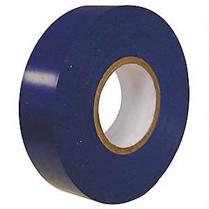 "Blue Flame Retardant Polyvinyl Chloride Electrical Tape, 3/4"" Width, 60 ft. Length, 7 mil Thickness"