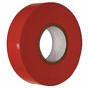 "Red Flame Retardant Polyvinyl Chloride Electrical Tape, 3/4"" Width, 60 ft. Length, 7 mil Thickness"