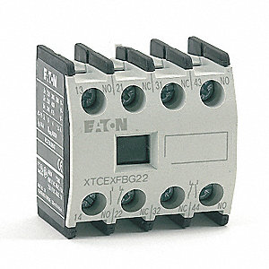 Auxiliary Contact, 16 Amps, Sequence A Type, Front Mounting