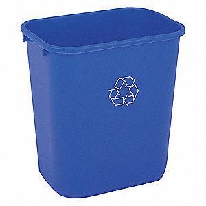 7 gal. Blue Desk-side Recycling Container, Open Top