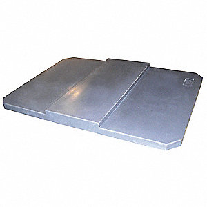Cube Truck Lid,Gray,Fits 12-1/2 cu. ft.
