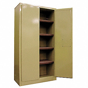 "Storage Cabinet, Beige, 65"" Overall Height, Assembled"