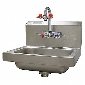 Grainger Approved Stainless Steel Hand Sink Eye Wash With