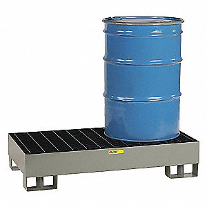 Forkliftable Drum Spill Containment Platform