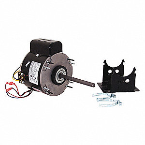 1/4 HP Unit Heater Motor,Permanent Split Capacitor,1075 Nameplate RPM,115 Voltage, Frame 48Y