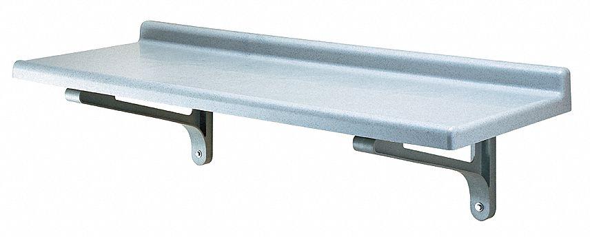 Cambro Wall Shelf Polypropylene 48 Quot W 18 Quot D 4uhy2 Eacsws1848sk480 Grainger