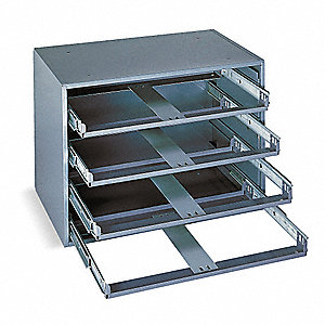"Sliding Drawer Cabinet, 15"" Cabinet Height, 20"" Cabinet Width, Number of Drawers 4 (Not Included)"