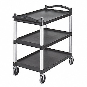 Utility Cart,400 lb. Load Cap.,3 Shelves