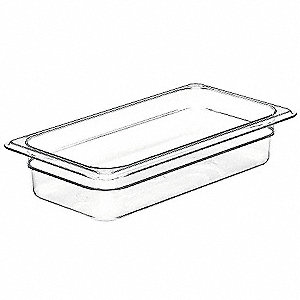 Food Pan,Third Size, Clear,PK6