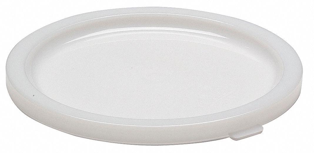 Cambro Polyethylene Round Lid White 4ukh4 Carfsc12148