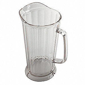Pitcher, 64 Oz Cap,L 9 1/4,PK6
