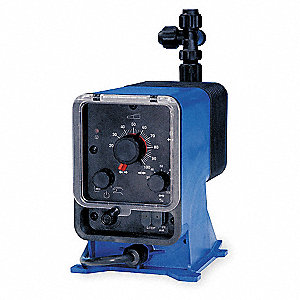 Diaphram Chemical Metering Pump, Max. Flow Rate: 1.85 gph, Max. Pressure: 100 psi