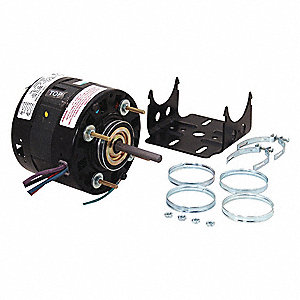 1/10 HP Direct Drive Blower Motor, Shaded Pole, 1050 Nameplate RPM, 115/208-230 Voltage, Frame 42Y